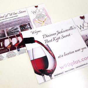 W90+ Wine Postcard Design