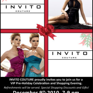 Flyer for Invito Couture