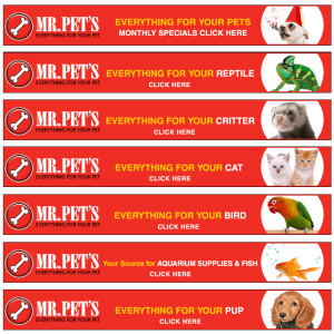 Leaderboard Banner campaign for Mr Pet's