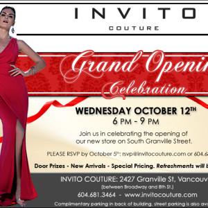 Invito Couture - Grand Opening Ad