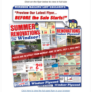Email Marketing Campaign - Windsor Plywood