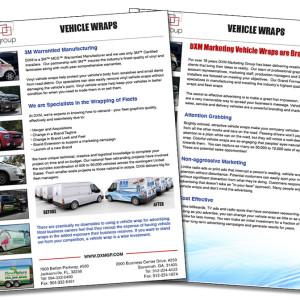 Vehicle Wrap Sales Sheet