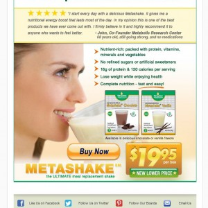 Email Campaign - Metabolic Research Center for Metashake.